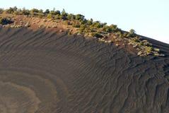 заход солнца соотечественника памятника кратера Стоковые Изображения