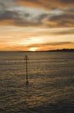 заход солнца спокойный Стоковое фото RF