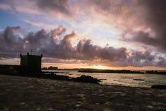 Заход солнца сумерек на Skala de Ла Ville стоковые фотографии rf