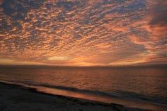 заход солнца супер Стоковое Изображение