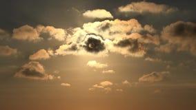 Заход солнца с облаками на небе, пасмурный устанавливая сумрак Timelapse драматический, промежуток времени акции видеоматериалы