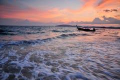 заход солнца Таиланд nang залива ao южный Стоковое фото RF