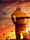 заход солнца тени Стоковое Изображение RF