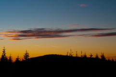 заход солнца теплый Стоковая Фотография RF