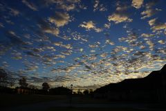 Заход солнца Техаса Стоковое фото RF