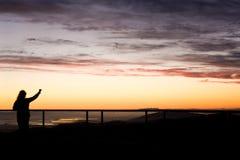 заход солнца торжества стоковое фото rf