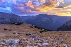 Заход солнца тундры скрещивания Юта стоковое фото rf