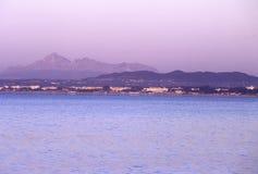 заход солнца Тунис стоковое фото