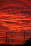 заход солнца урбанский Стоковая Фотография