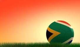 заход солнца футбола шарика Африки южный стоковое изображение