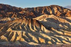 заход солнца холмов рисуночный Стоковая Фотография RF