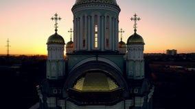 заход солнца церков Христианство видеоматериал