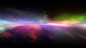 Заход солнца цифров иллюстрация вектора