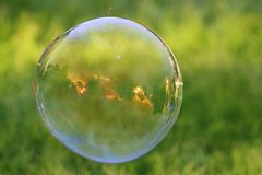 Заход солнца через пузырь Стоковое Изображение RF