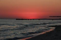 Заход солнца черное море Вертел Kinburn Красивейшее небо стоковое изображение