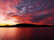 заход солнца чудесный Стоковые Фото