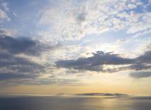 заход солнца чудесный Стоковая Фотография RF