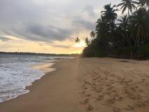 Заход солнца Шри-Ланки стоковые изображения