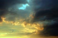 заход солнца шторма облаков Стоковое фото RF