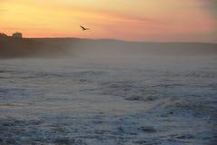 заход солнца шторма whitby Стоковое фото RF