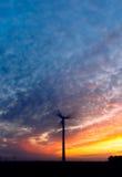 заход солнца энергии Стоковое Изображение