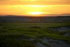 Заход солнца Южной Дакоты Стоковые Фото