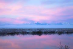 заход солнца Юта озера Стоковая Фотография RF