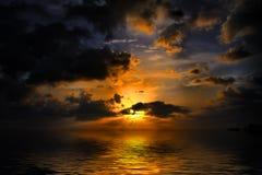 заход солнца ямайки Стоковое фото RF