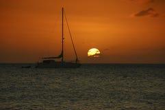 заход солнца ямайки Стоковые Изображения RF