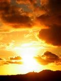 заход солнца 01 Стоковое Изображение