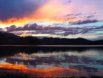 заход солнца 10 изображений Стоковое Изображение RF