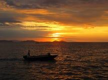 заход солнца 2 Индонесия стоковое фото rf