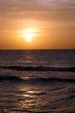 заход солнца 2 кубинцев Стоковая Фотография RF