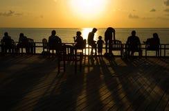 заход солнца 2 океанов Стоковые Изображения RF