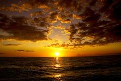 заход солнца 2 северных областей Стоковая Фотография