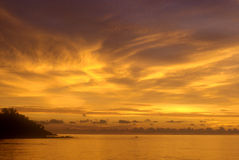 заход солнца 2 тайский Стоковая Фотография
