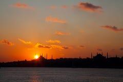 заход солнца 2 istanbul Стоковые Фото