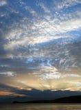 заход солнца 2 kamchatka Стоковые Фотографии RF