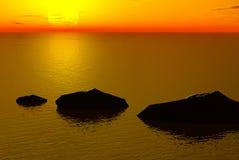 заход солнца иллюстрация штока