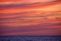 заход солнца 3 морей Стоковое Фото