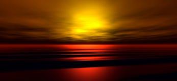 заход солнца 3 предпосылок Стоковые Фото