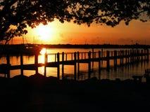 заход солнца 3 Стоковое фото RF