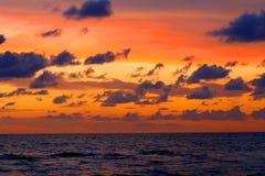 заход солнца 3 florida Стоковое Изображение