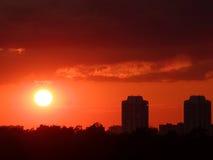 заход солнца 4 Стоковые Фотографии RF