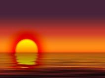 заход солнца 4 Стоковая Фотография RF