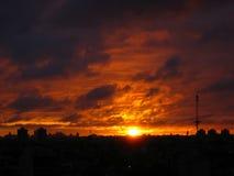 заход солнца 4515 Стоковое фото RF