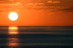заход солнца 6 carib Стоковые Фотографии RF