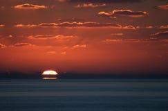 заход солнца 7 carib Стоковые Изображения RF