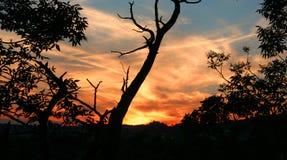 Заход солнца 9 Стоковое Изображение RF