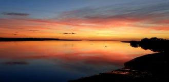 Заход солнца Aberdovey Уэльс Великобритания стоковая фотография